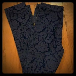 Blue flower Anthropologie pants